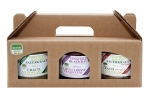 3-er Geschenkset 400 g bestehend aus: Sauerkraut gewürzt & gekocht, Sauerkraut mit Speck und Blaukraut (3 Gläser zu je 400 g)