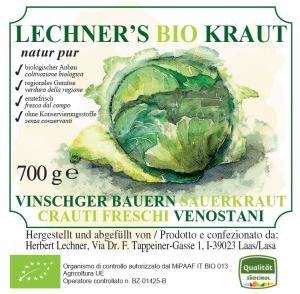 Etikett Lechner's BIO Kraut